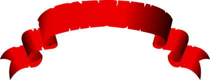 Red banner Stock Images