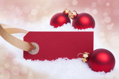 Red Banner as Christmas Background Royalty Free Stock Image