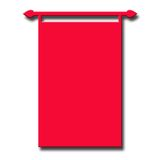 Red Banner Background Stock Images