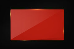 Red banner on carbon background stock image