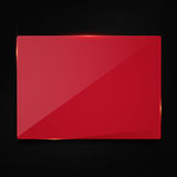 Red banner on carbon background Stock Photo