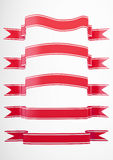 Red Banner collection 2 Royalty Free Stock Image