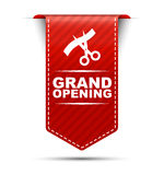 Red  banner design grand opening Royalty Free Stock Photo
