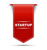 Red  banner design startup Royalty Free Stock Photos