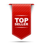 Red  banner design top seller Royalty Free Stock Images