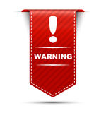 Red  banner design warning Stock Photography