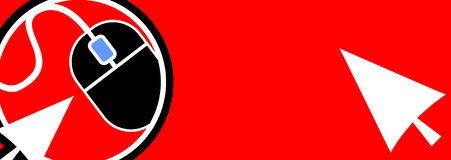 Red banner informatics. Creative design of red banner informatics Stock Images