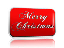 Red banner Merry Christmas Stock Image