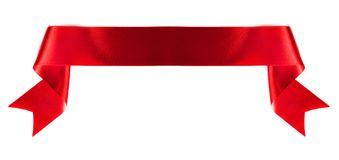 Banner ribbon on white. Red banner ribbon isolated on white background royalty free stock image