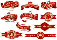 Red Banner Ribbon Set Royalty Free Stock Images