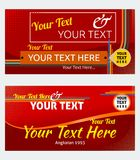 Red Banner Templates Stock Photos