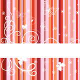 Red banner. Vector illustration Stock Photos
