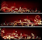 Red banners Royalty Free Stock Images