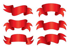 Red Banners Royalty Free Stock Image