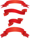 Red banners Royalty Free Stock Photo
