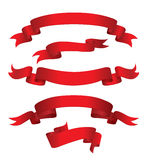 Red Banners (illustration). Set Of Empty Red Banners ( or XXL jpeg image Stock Image