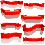 Red Banners Set Royalty Free Stock Photo