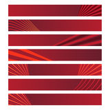 Red banners. Simple red banners, banner Valentine's Day Vector Illustration