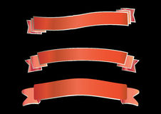 Red Banners - Vector Royalty Free Stock Photography
