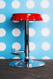 Red bar stool royalty free stock images