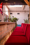 Red bar stools Stock Photos