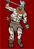 Red barbarian. Image of a red barbarian Royalty Free Stock Image