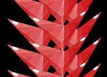 Red barbed vertical border. This is the barbed vertical border of frame. It is made of triangles. You can use it as a horizontal boundary Royalty Free Stock Image