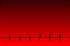 Red Barbed Wire Background Stock Image