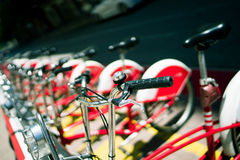 Red Barca bikes Royalty Free Stock Photos