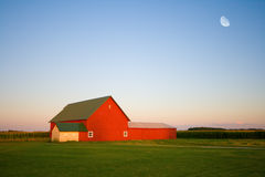 Red barn. On a farm in Central Indiana Stock Photography