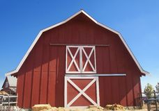 Red Barn. With Blue Sky Background Royalty Free Stock Photos