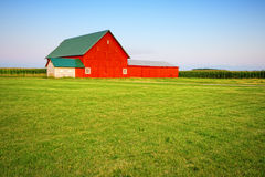 Red barn. On a farm in Central Indiana Royalty Free Stock Photography
