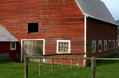 Red Barn. Old red barn used as a wood shed Royalty Free Stock Photography