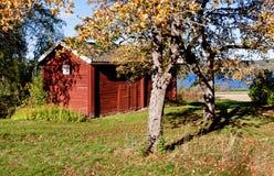 Red barn. Stock Photos