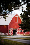Red barn. Old red barn on a farm Stock Images