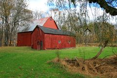 Free Red Barn Stock Photography - 3502922