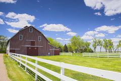 Red Barn. Farm shed of the famous Buffalo Bill near North Platte in Nebraska Royalty Free Stock Images