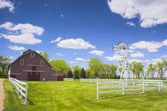 Red Barn. Farm shed of the famous Buffalo Bill near North Platte in Nebraska Stock Photo