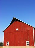 Red barn. Photo of a red barn in rural Ontario, Canada stock photography