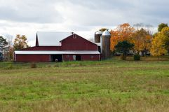 Red Barn. Farm barn in Pennsylvania stock photo