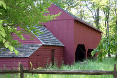 Red Barn. An old red barn in Morristown, NJ royalty free stock image