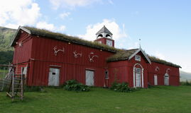 Red barn. From about 1840, Norway Royalty Free Stock Images