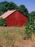 Red barn. Near Layfayette, N.Y Royalty Free Stock Photo