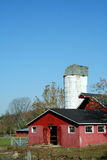 Red Barn And Silo Royalty Free Stock Photos