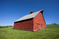 Red barn at arboretum. Stock Images