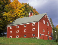 Red barn in Autumn in VT Stock Photos