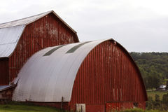 Red Barn. On a back country road in upstate New York Royalty Free Stock Photo