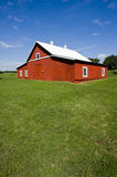 Red Barn - Beautiful Day Royalty Free Stock Photography