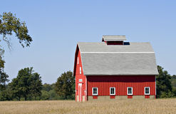 Red Barn and Blue Sky Royalty Free Stock Images