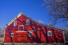 Red barn, blue sky Stock Photography